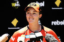 Emily Smith talks to the media ahead of the WBBL semis, Perth, January 31, 2018