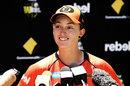 Emily Smith talks to the media ahead of the WBBL semis, Perth, January 31, 2018