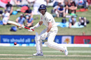 Jack Leach defends one into the covers, New Zealand v England, 1st Test, Day 2, Mount Maunganui, November 22, 2019