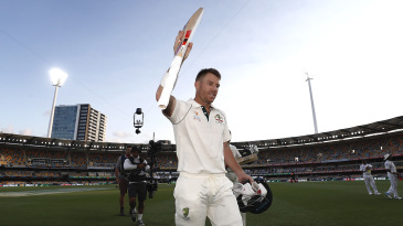 David Warner soaks in the applause after batting the day