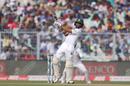 Shadman Islam plays a pull, India v Bangladesh, 2nd Test, 1st day, Kolkata, November 22, 2019