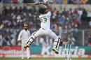 Nayeem Hasan plays an airborne uppercut, India v Bangladesh, 2nd Test, 1st day, Kolkata, November 22, 2019