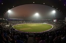 The lights come on at Eden Gardens for India's first ever day-night Test, India v Bangladesh, 2nd Test, 1st day, Kolkata, November 22, 2019