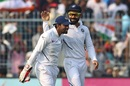 Virat Kohli congratulates Wriddhiman Saha on his brilliant catch to dismiss Mahmudullah, India v Bangladesh, 2nd Test, 1st day, Kolkata, November 22, 2019