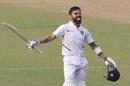 Virat Kohli celebrates his 20th Test ton, India v Bangladesh, 2nd Test, Kolkata, 2nd day, November 23, 2019