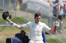 Mitchell Santner raises his maiden Test hundred, New Zealand v England, 1st Test, Mount Maunganui, 4th day, November 24, 2019