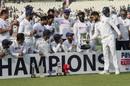 Virat Kohli hands over the trophy to KS Bharat, India v Bangladesh, 2nd Test, Kolkata, 2nd day, November 23, 2019