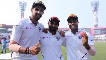 Ishant Sharma, Mohammed Shami, and Umesh Yadav are all smiles