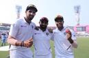 Ishant Sharma, Mohammed Shami, and Umesh Yadav are all smiles, India v Bangladesh, 2nd Test, Kolkata, 2nd day, November 23, 2019