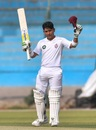 Adnan Akmal brings up his hundred, Southern Punjab (Pakistan) v Sindh, Quaid-e-Azam Trophy 2019-20, Karachi, day 2, November 26, 2019