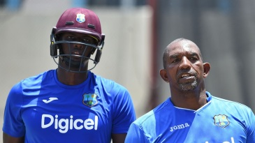 Phil Simmons and Jason Holder have a chat