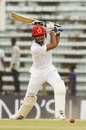 Ibrahim Zadran drives through cover, Bangladesh v Afghanistan, Only Test, 3rd day, Chattogram, September 7, 2019