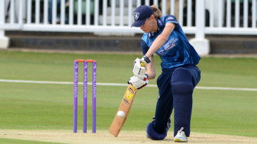 Maxine Blythin drives through the covers