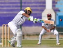 Fawad Alam reaches out for a stroke, Southern Punjab (Pakistan) v Sindh, Quaid-e-Azam Trophy 2019-20, day 3, November 27, 2019