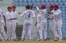 Amir Hamza is congratulated for a wicket, Afghanistan v West Indies, Only Test, 1st day, Lucknow, November 27, 2019