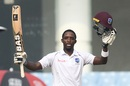 Shamarh Brooks celebrates his maiden Test century, Afghanistan v West Indies, Only Test, 2nd day, Lucknow, November 28, 2019