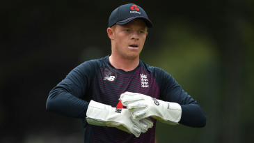 Ollie Pope looked set to take the gloves for England