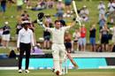 Tom Latham celebrates reaching his century, New Zealand v England, 2nd Test, Hamilton, November 29, 2019