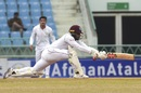 John Campbell plays a sweep, Afghanistan v West Indies, only Test, Lucknow, 3rd day, November 29, 2019