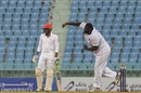 Rahkeem Cornwall sends one down, Afghanistan v West Indies, only Test, Lucknow, 3rd day, November 29, 2019