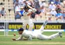 BJ Watling drives through the covers, New Zealand v England, 2nd Test, Hamilton, November 30, 2019