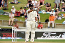 Daryl Mitchell acknowledges the applause after bringing up his fifty on Test debut, New Zealand v England, 2nd Test, Hamilton, November 30, 2019