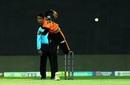 R Sai Kishore bowls in the TNPL