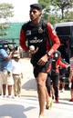 Prayas Ray Barman arrives for the match against Sunrisers Hyderabad, Sunrisers Hyderabad v Royal Challengers Bangalore, IPL 2019, Hyderabad, March 31, 2019