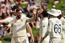 Chris Woakes celebrates a breakthrough, New Zealand v England, 2nd Test, Hamilton, November 30, 2019