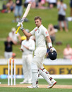Joe Root celebrates reaching his double century, New Zealand v England, 2nd Test, Hamilton, December 02, 2019