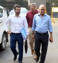 Jaydev Shah and Niranjan Shah arrive at the BCCI office for the AGM, Mumbai, December 1, 2019