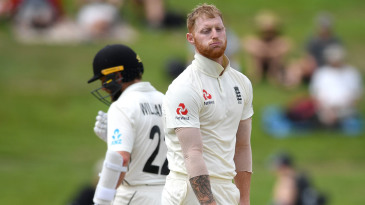 Ben Stokes shows his frustration