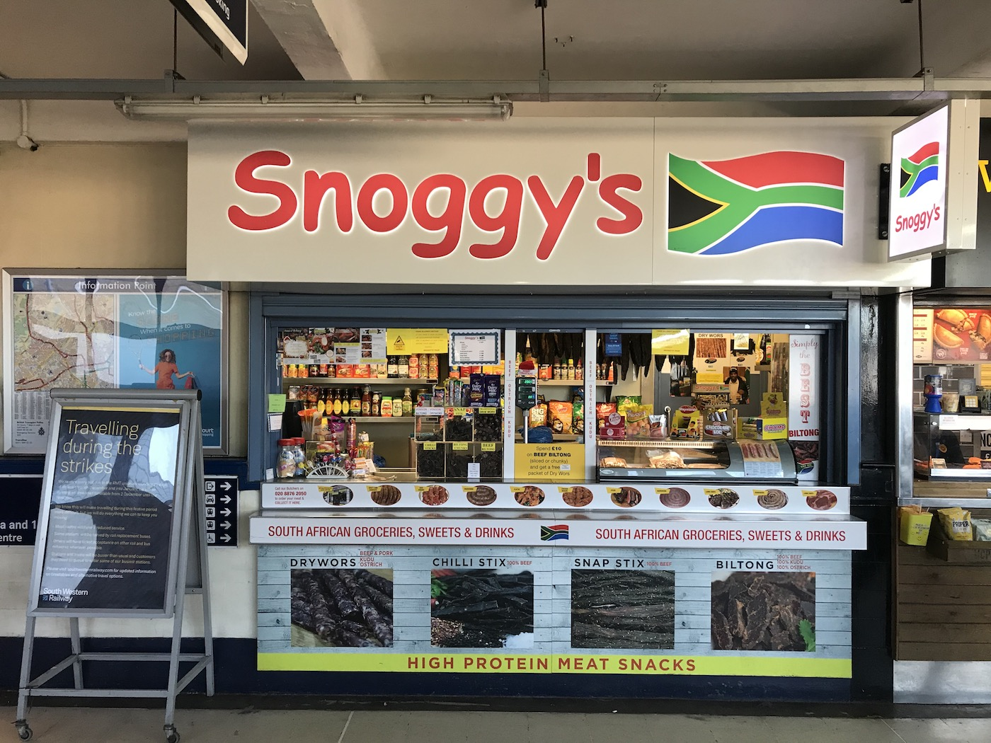 Snoggy's, the South African speciality store in Wimbledon station, caters to the large expat population in the area
