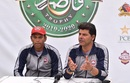 Northern captain Nauman Ali and coach Mohammad Wasim address the media, Northern (Pakistan) v Khyber Pakhtunkhwa, Quaid-e-Azam Trophy 2019-20, Karachi, day 4, December 5, 2019
