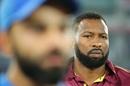 Kieron Pollard looks on ahead of the toss, India v West Indies, 1st T20I, Hyderabad, December 6, 2019