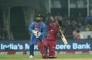 Shimron Hetmyer slog-sweeps powerfully, India v West Indies, 1st T20I, Hyderabad, December 6, 2019