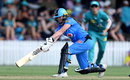 Amanda-Jade Wellington sweeps during her half-century, Brisbane Heat v Adelaide Strikers, WBBL final, Allan Border Field, December 8, 2019