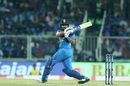 Rohit Sharma works the ball to the leg side, India v West Indies, 2nd T20I, Thiruvananthapuram, December 8, 2019