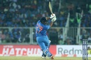 Rishabh Pant swivels and puts his full body into the shot, India v West Indies, 2nd T20I, Thiruvananthapuram, December 8, 2019