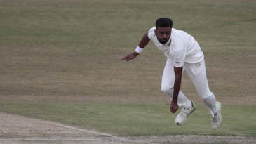 Jaydev Unadkat sends one down