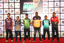 Captains of six of the seven BPL teams line up on the eve of the tournament, Dhaka, December 10, 2019