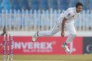 Mohammad Abbas in his delivery stride, Pakistan v Sri Lanka, 1st Test, Rawalpindi, Day 1