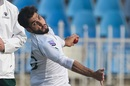 Usman Shinwari bowls, Pakistan v Sri Lanka, 1st Test, Rawalpindi, Day 1