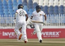 Dimuth Karunaratne and Oshada Fernando put on a solid opening stand, Pakistan v Sri Lanka, 1st Test, Rawalpindi, Day 1