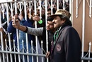 Javed Miandad interacts with fans, Pakistan v Sri Lanka, 1st Test, Rawalpindi, Day 1