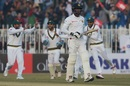 Angelo Mathews walks back after being dismissed, Pakistan v Sri Lanka, 1st Test, Rawalpindi, Day 1
