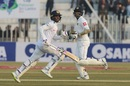 Dhananjaya de Silva and Angelo Mathews during their partnership, Pakistan v Sri Lanka, 1st Test, Rawalpindi, Day 1
