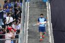 Virat Kohli jogs down the Wankhede Stadium stairs, India v West Indies, 3rd T20I, Mumbai, December 11, 2019