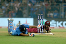 Rohit Sharma dives to escape being run out, India v West Indies, 3rd T20I, Mumbai, December 11, 2019