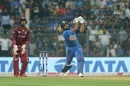 Rohit Sharma goes down the ground, India v West Indies, 3rd T20I, Mumbai, December 11, 2019